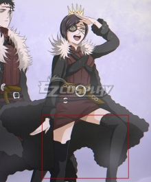 Black Clover Vanica Zogratis Black Shoes Cosplay Boots