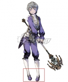 NieR Re[in]carnation Reincarnation Emil Purple Cosplay Shoes