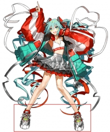 Vocaloid Hatsune Miku EXPO Digital Stars 2020 ver. Red Cosplay Shoes
