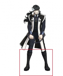 Ace Attorney Dual Destinies Simon Blackquill Black Shoes Cosplay Boot