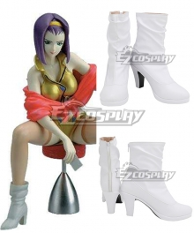 Cowboy Bebop Faye Valentine White Cosplay Shoes