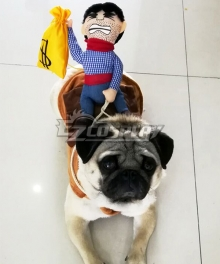 Cowboy Rider Dog Costume Dogs Outfit Knight Style Doll Hat Halloween Day Pet Costume