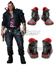 Cyberpunk 2077 Jackie Welles Black Cosplay Shoes