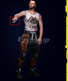 Cyberpunk 2077 V Male Street Kid Gun Cosplay Weapon Prop