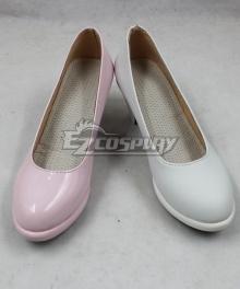 Danganronpa 2: Goodbye Despair Monomi Pink White Cosplay Shoes