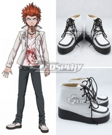 Danganronpa: Trigger Happy Havoc Leon Kuwata White Cosplay Shoes