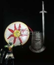 Dark Souls Solaire of Astora Sword and Shield, Helmet Halloween Cosplay Weapon Prop