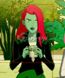 DC 2019 Anime Harley Quinn Poison Ivy Red Cosplay Wig