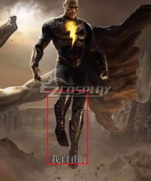 DC 2021 Movei Black Adam Teth Theo-Adam Golden Shoes Cosplay Boots