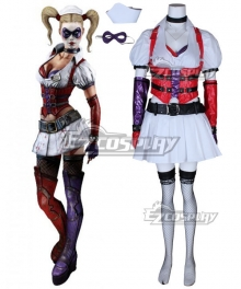 DC Batman Arkham Asylum Harley Quinn Halloween Cosplay Costume