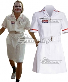 DC Batman The Dark Knight Joker Nurse Cosplay Costume - No Wig