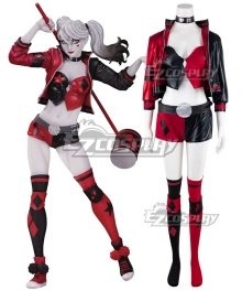 DC Comics Red White & Black: Harley Quinn Cosplay Costume
