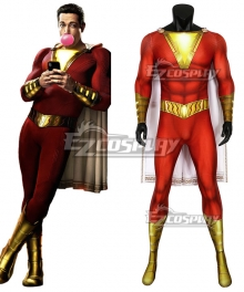 DC Shazam! Billy Batson Zentai Jumpsuit Cosplay Costume