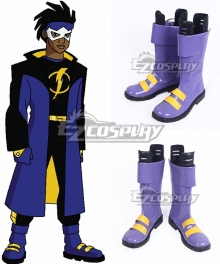 DC Comics Static Shock Virgil Ovid Hawkins Blue Shoes Cosplay Boots