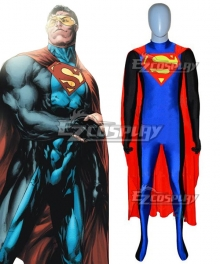 DC New Earth Eradicator Superman Zentai Jumpsuit Cosplay Costume