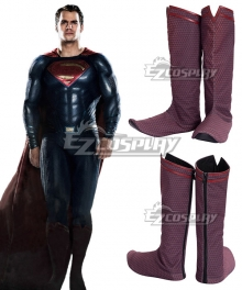 DC Superman : Man of Steel Clark Kent Superman Red Shoes Cosplay Boots