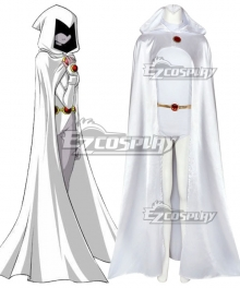 DC Teen Titans White Raven Cosplay Costume