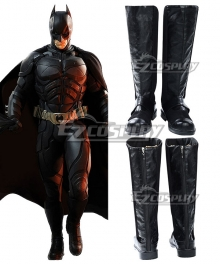 DC The Dark Knight Rises Batman Bruce Wayne Black Shoes Cosplay Boots