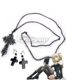 Death Note Misa Amane Punk Gothic Helloween Cosplay Accessory Prop