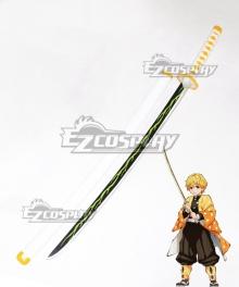 Demon Slayer: Kimetsu no Yaiba Agatsuma Zenitsu Golden Sword Cosplay Weapon Prop