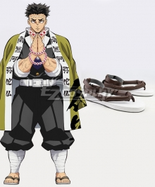 Demon Slayer: Kimetsu No Yaiba Gyomei Himejima Grey Cosplay Shoes
