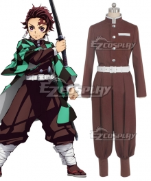 Demon Slayer: Kimetsu No Yaiba Tanjirou Kamado Cosplay Costume Without Coat