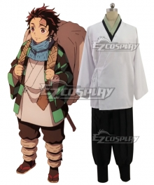 Demon Slayer: Kimetsu No Yaiba Kamado Tanjirou First Cosplay Costume Whithout Coat