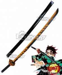 Demon Slayer: Kimetsu No Yaiba Kamado Tanjirou Yellow Grey Sword Cosplay Weapon Prop