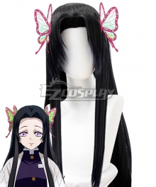 Demon Slayer: Kimetsu No Yaiba Kanae Kocho Black Cosplay Wig - Only Wig