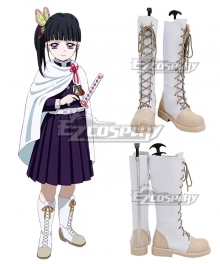 Demon Slayer: Kimetsu No Yaiba Kanao Tsuyuri White Shoes Cosplay Boots