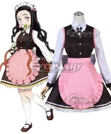 Demon Slayer: Kimetsu No Yaiba Nezuko Kamado Kimetsu Cafe Coffee Cosplay Costume