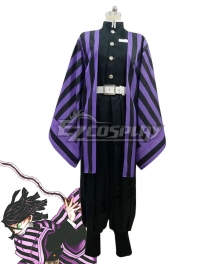 Demon Slayer: Kimetsu no Yaiba Obanai Iguro Purple Cosplay Costume