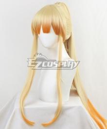 Demon Slayer: Kimetsu No Yaiba Zenitsu Agatsuma  Female Gold Long Cosplay Wig