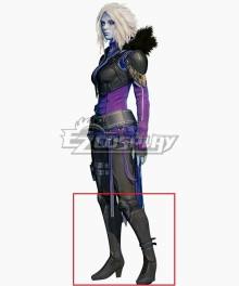 Destiny Queen of the Awoken Mara Sov Black Shoes Cosplay Boots