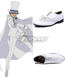 Detective Conan Kid the Phantom Thief White Cosplay Shoes