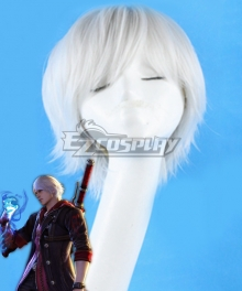 Devil May Cry 4 Nero Silver Cosplay Wig