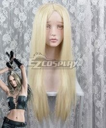 Devil May Cry 5 Trish White Golden Cosplay Wig
