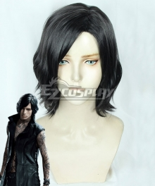Devil May Cry 5 V Black Cosplay Wig
