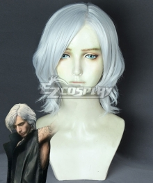 Devil May Cry 5 V White Cosplay Wig