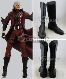 Devil May Cry Devil May Cry 3 Dante Black Shoes Cosplay Boots