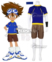 Digimon Adventure Digital Monster Tai Kamiya Taichi Yagami Cosplay Costume