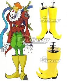 Digimon Adventure Piemon Yellow Shoes Cosplay Boots