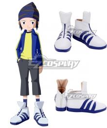 Digimon Frontier Koji Minamoto White Blue Cosplay Shoes