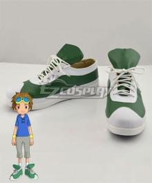 Digimon Tamers Takato Matsuki Brown Green Cosplay Shoes