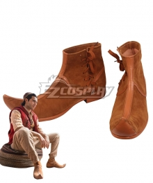 Disney 2019 Movie Aladdin Aladdin Brown Cosplay Shoes
