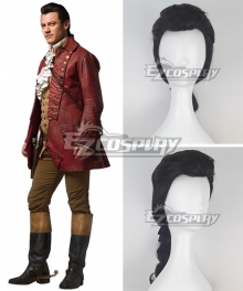 Disney Beauty and The Beast Gaston Movie 2017 Black Cosplay Wig