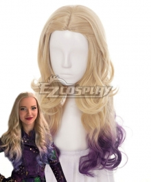 Disney Descendants 2 Mal Golden Cosplay Wig