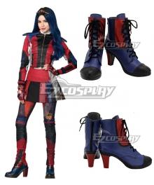 Disney Descendants 3 Evie Blue Red Cosplay Shoes