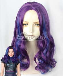 Disney Descendants 3 Mal Blue Purple Cosplay Wig