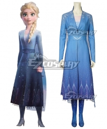 Disney Frozen 2 Elsa Snow Queen Cosplay Costume